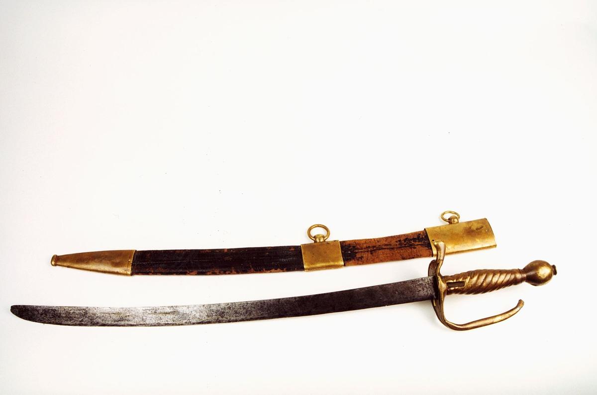 postmuseet, gjenstander, våpen, våpentilbehør, sabel, grenadersabel, balg, futteral, hylster, etui