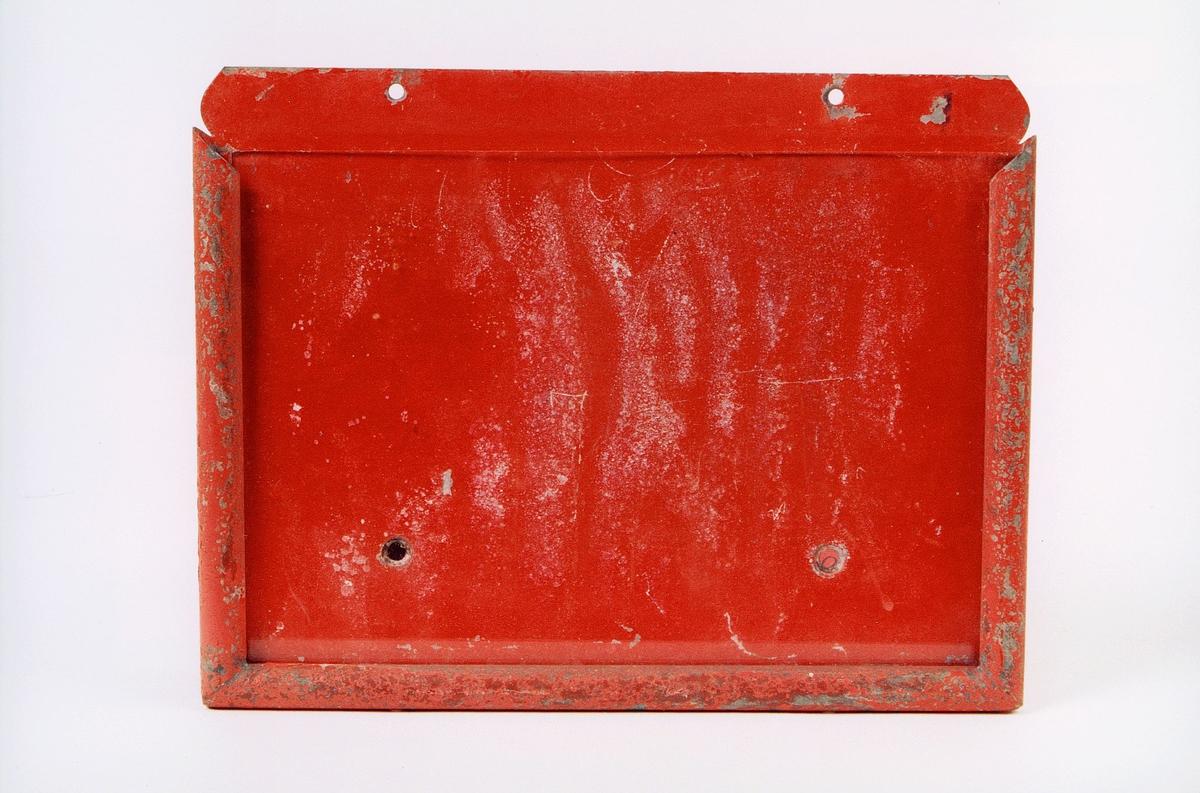 postmuseet, gjenstander, skilt, plate til og sette opplysninger