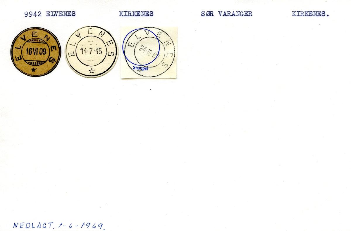 Stempelkatalog, 9942 Elvenes, Kirkenes, Sør Varanger, Kirkenes