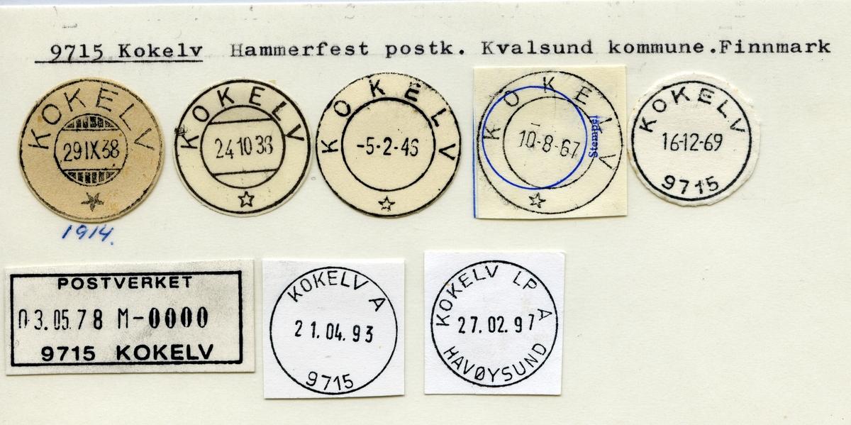 Stempelkatalog 9715 Kokelv, Hammerfest, Kvalsund, Finnmark