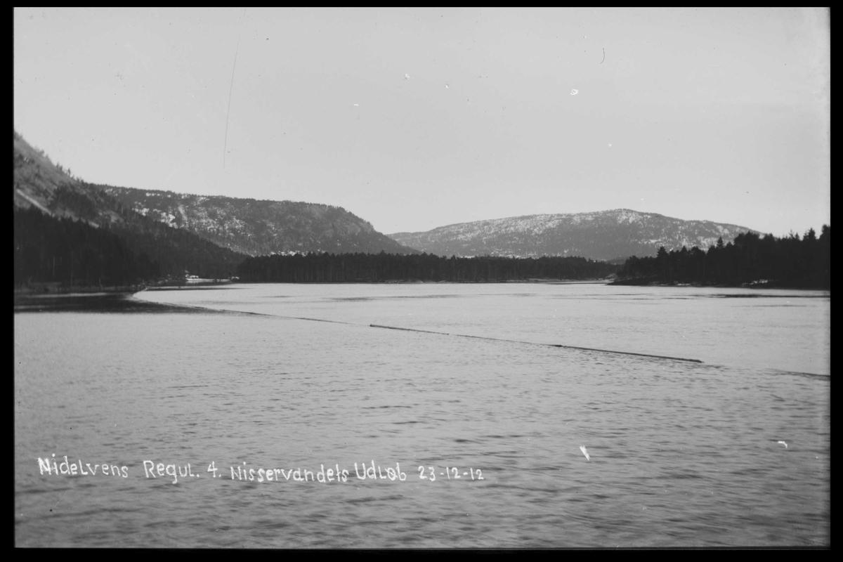 Arendal Fossekompani i begynnelsen av 1900-tallet CD merket 0446, Bilde: 39 Sted: Nisserdam Beskrivelse: Regulering