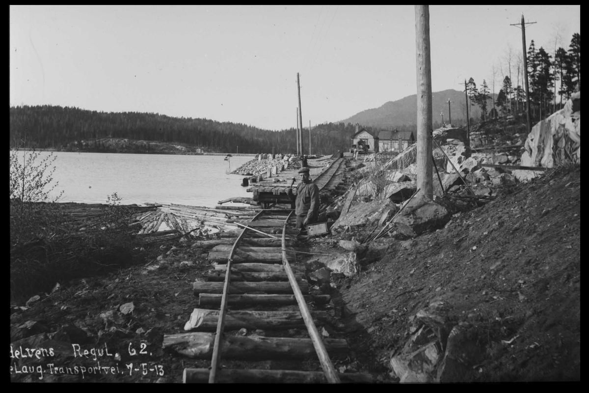 Arendal Fossekompani i begynnelsen av 1900-tallet CD merket 0474, Bilde: 74 Sted: Nelaug Beskrivelse: Transportveg
