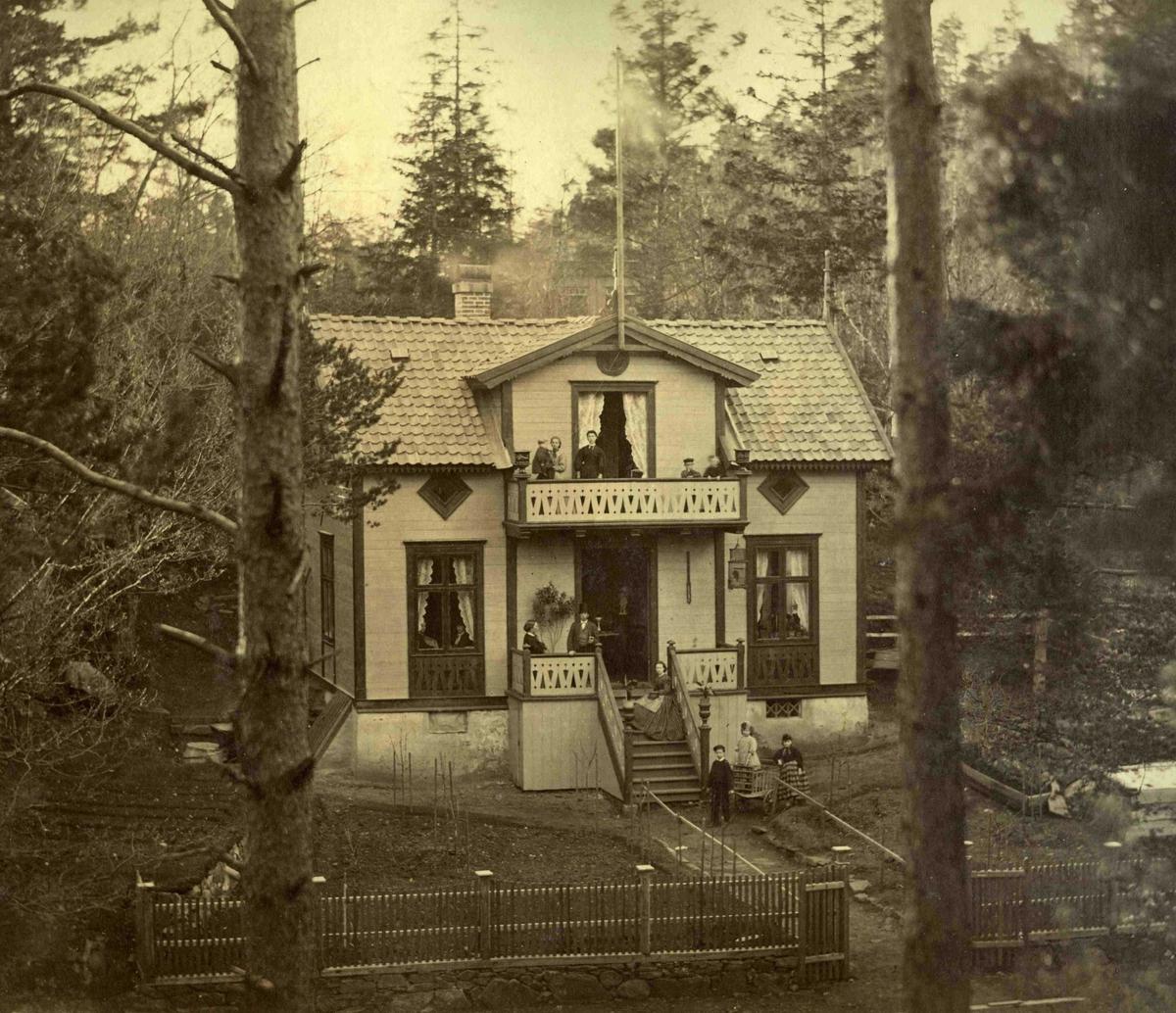 Fra John Ditlef Fürst album. Egelund - Tannlege Moes landsted - AAks 44 - 4 - 7 Bilde nr 97