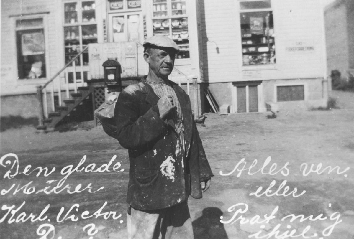 """Karl Victor (Johansen)  """"den glade murer""""."""
