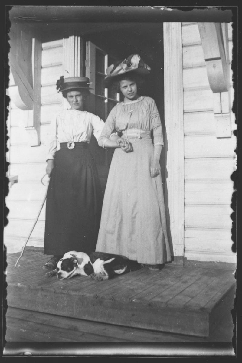 Gautbakken. Tony Larsen med søster.