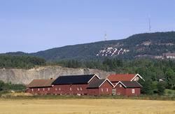 Grini museum og område. Bygninger og jorde omkring GRINI
