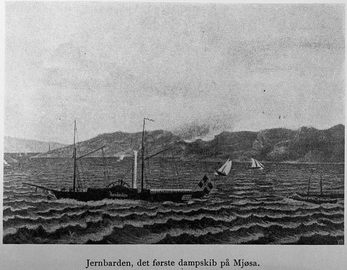 Jernbarden, det første dampskip på Mjøsa.