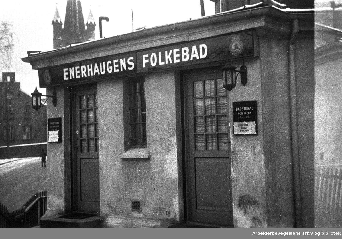 Enerhaugens Folkebad,.desember 1946.