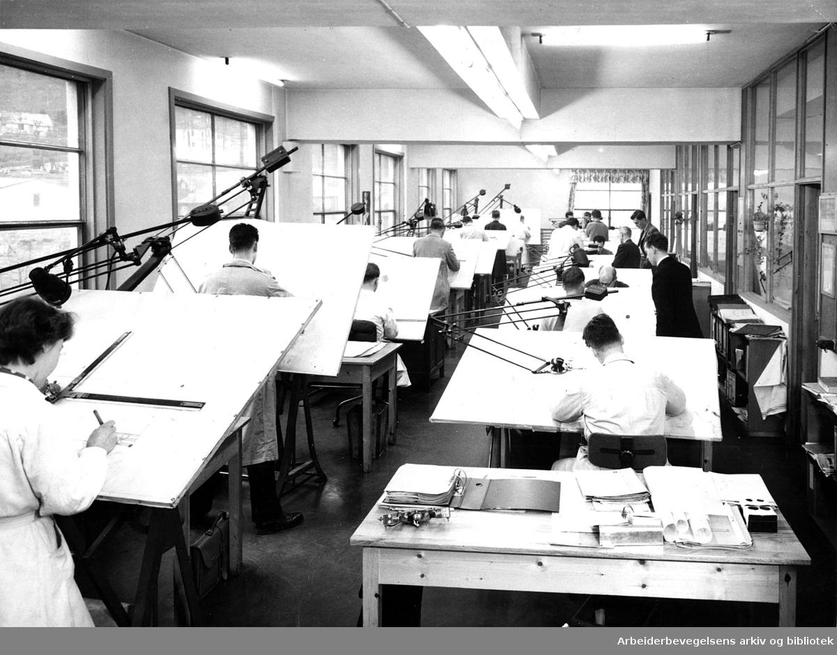 Fra tegnekontoret ved A/S Grafia, Oslo,.1945-1949