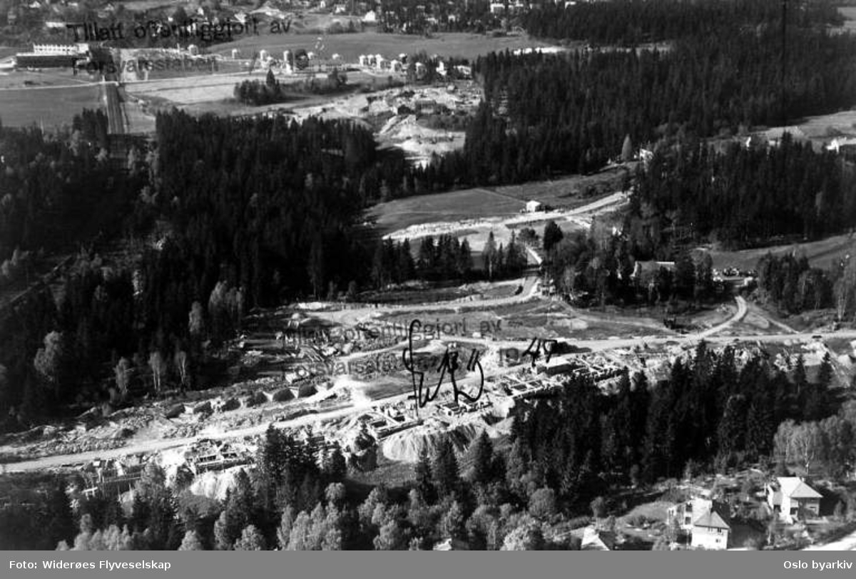 Oslo, Holmen, utbygging av Holmengrenda (Flyfoto)