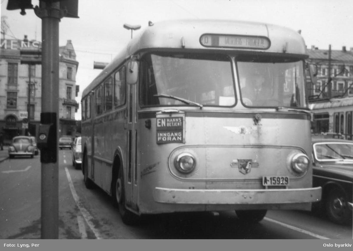 Oslo Sporveier. A-15929, dieselbuss linje 20, Frogner plass-Galgeberg, i Kirkeveien.