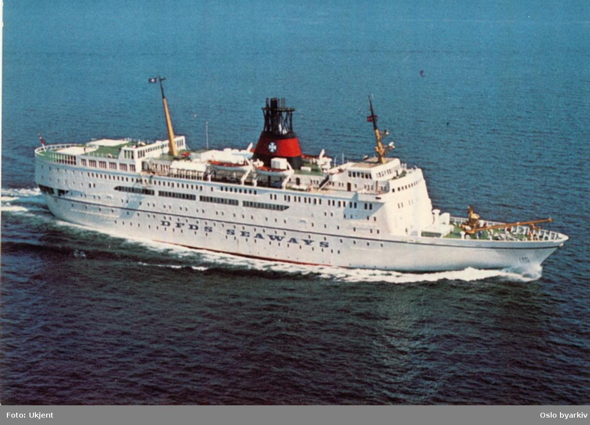 Danskebåten MS Prinsesse Margrethe, Oslo-København, rederiet DFDS. Postkort.