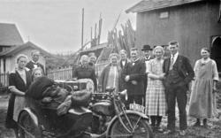 MOTORSYKKEL MED SIDEVOGN, EXELSIOR SUPER  D-1311, HELENE HAU