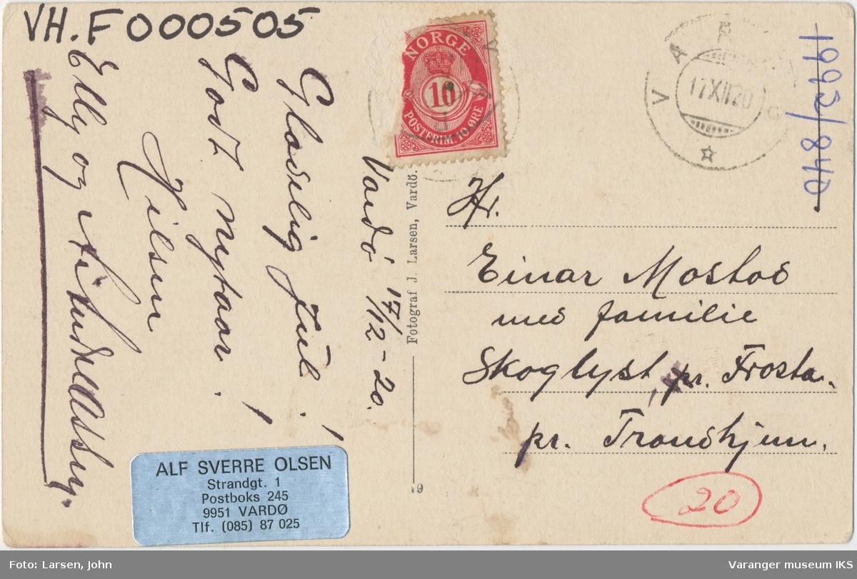 Postkort, Nordre Våg, ca. 1900