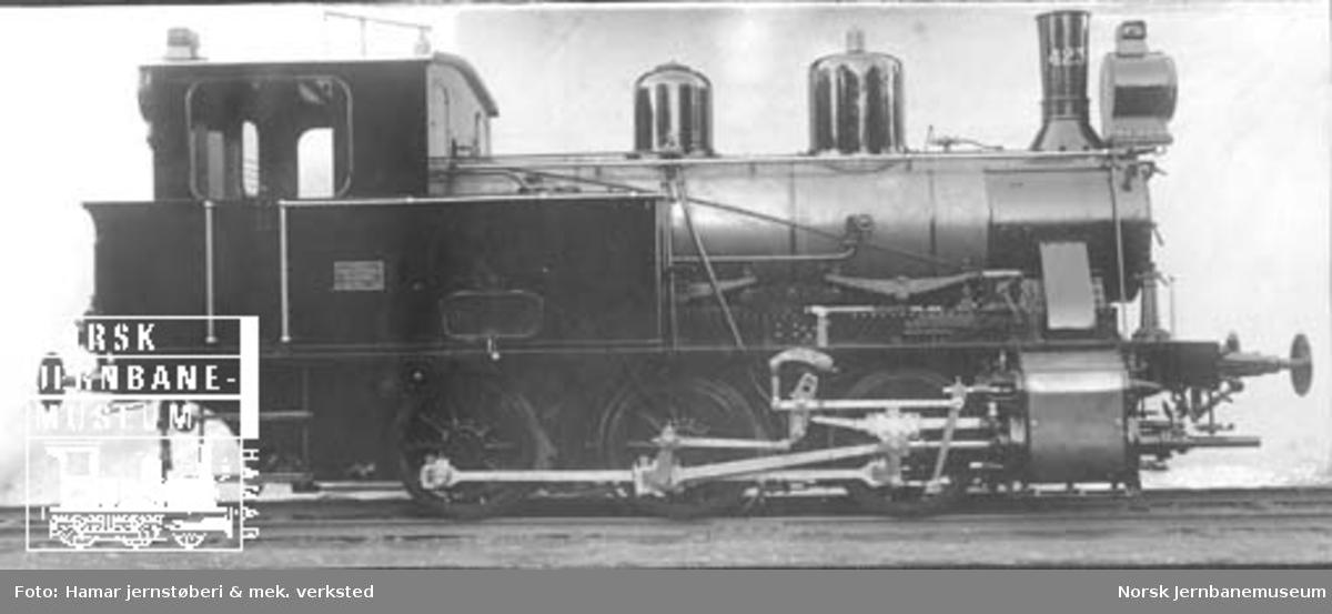 Leveransefoto av damplokomotiv type 25d nr. 423