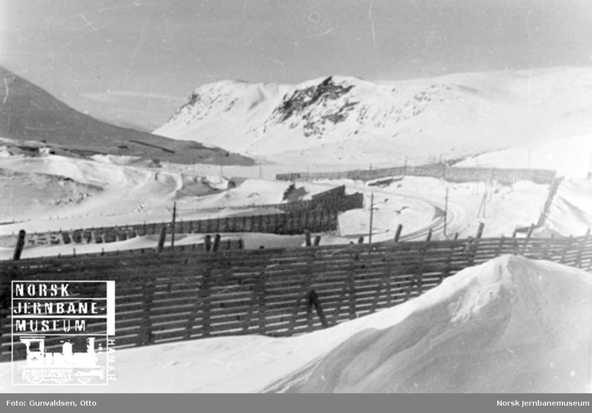 Snøskjermer ved Brattfoss