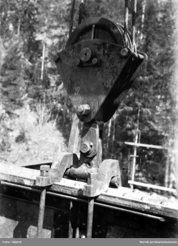Tjerndalen viadukt; fra byggingen, heving av bærevegg