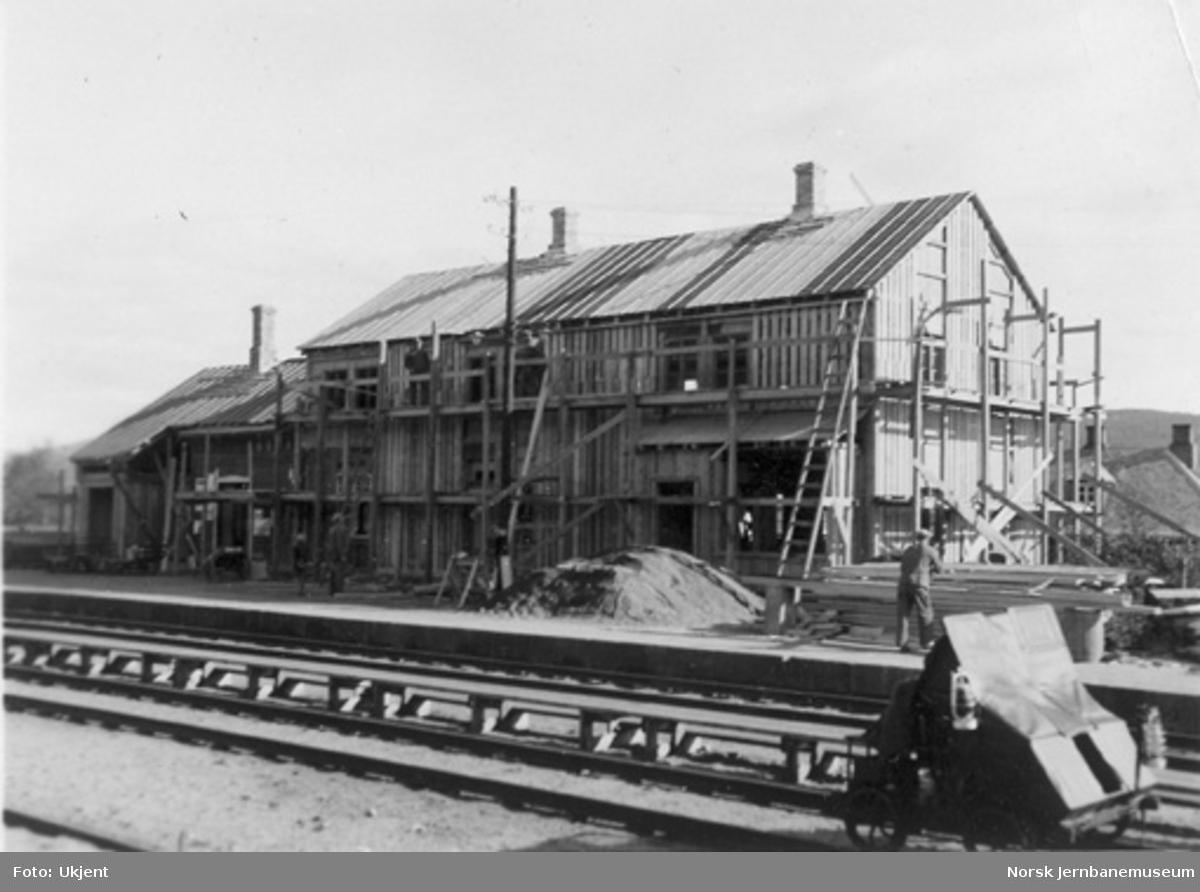 Geilo stasjonsbygning under ombygging