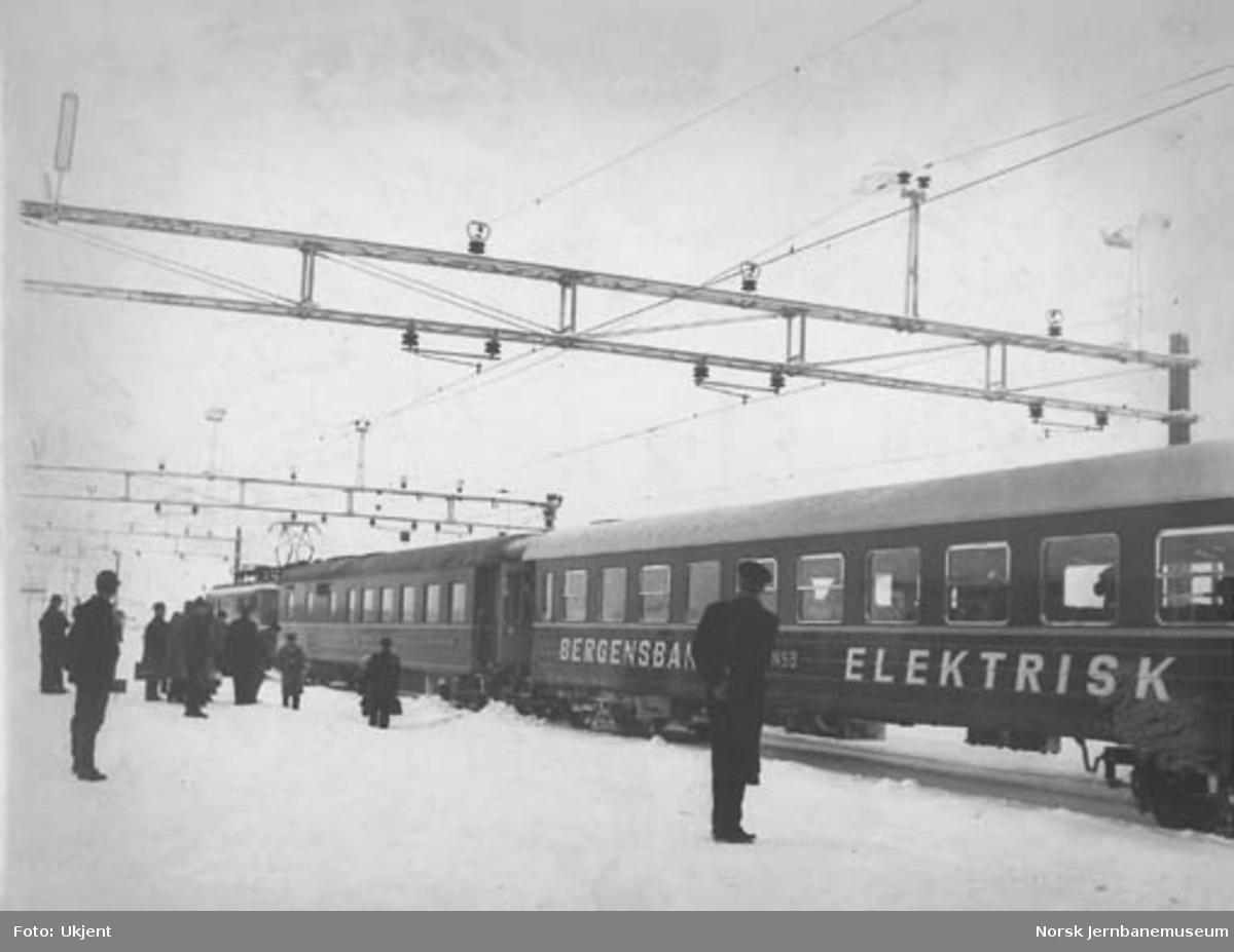 Bergensbanens åpningstog for elektrisk drift