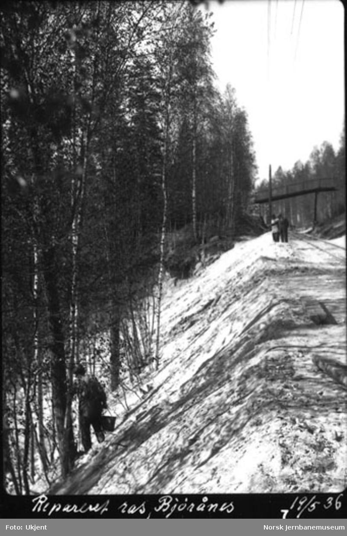 Utrast fylling ved Bjørånes