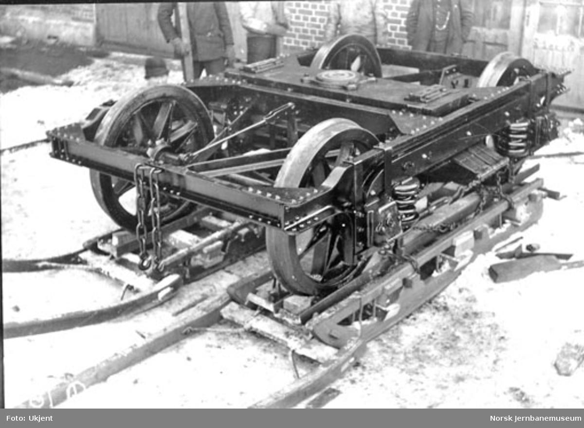 Boggie type 812 til personvogn på Skabo Jernbanevognfabrik