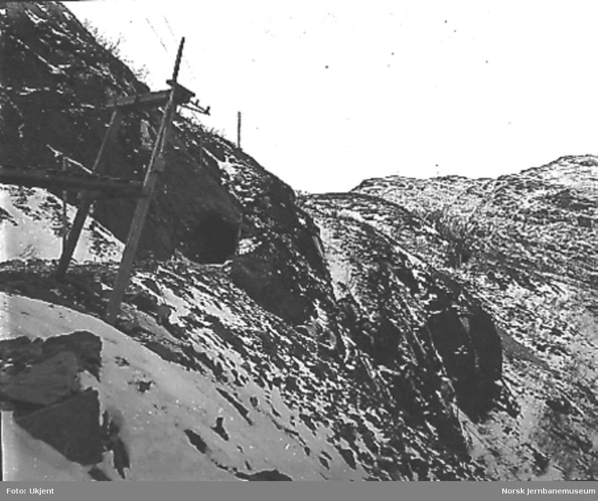Tunnelinnslag, trolig mellom Hallingskeid og Myrdal