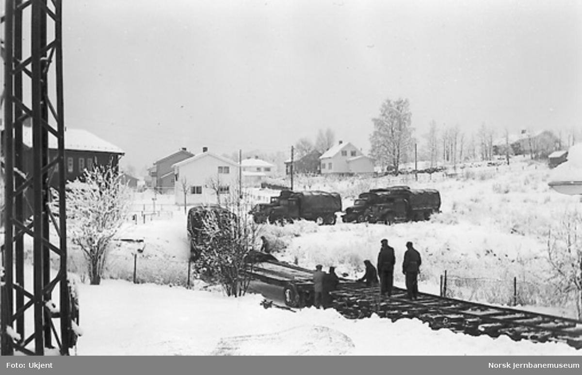 Fraflyttingssporet utenfor vognhallen på Disen, fotografert fra Kløften stasjon