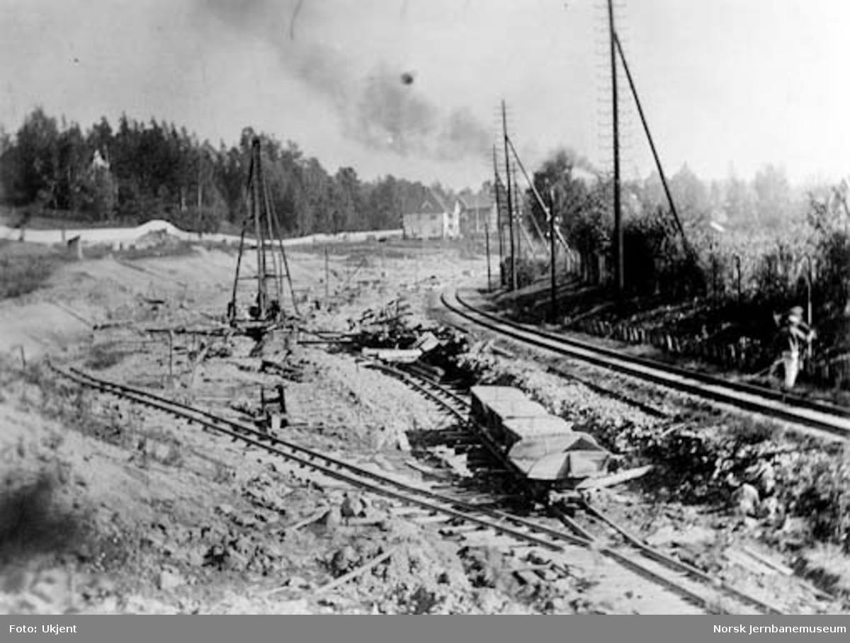Drammenbanens omlegging : utglidning i Lysakerskjæringen