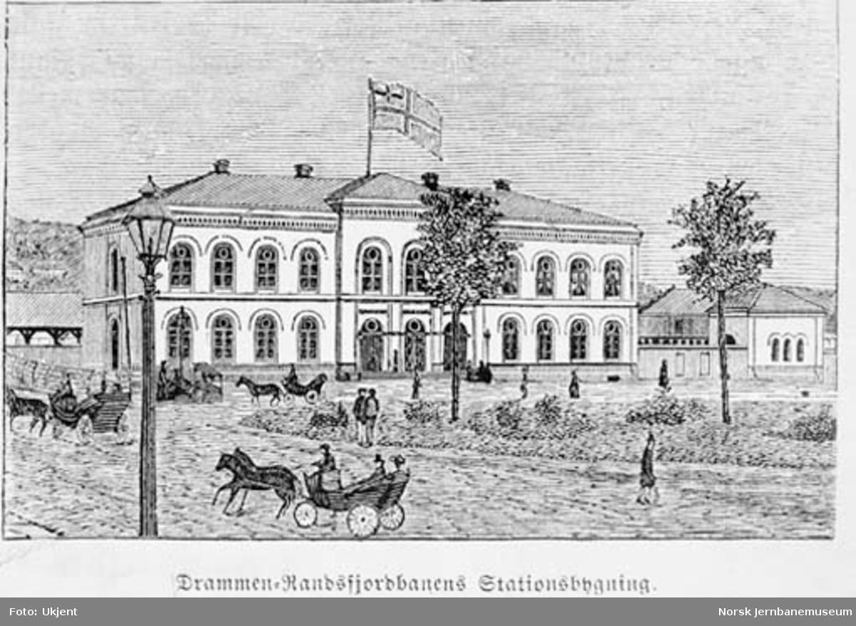 Drammen stasjonsbygning : tegning