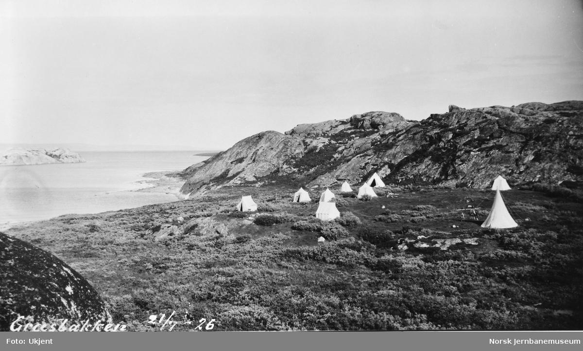 Jernbanestikking i Finnmark : teltleir ved Græsbakken