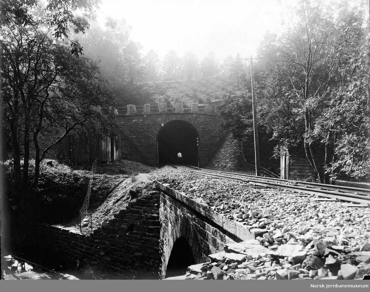 Vossebanen mellom Kronstad og Bergen, tunnelen ved Møllendal gravplass