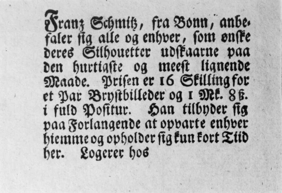 Silhouettklipperen Franz Schmitz' anbefaling