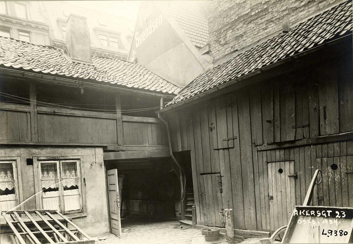 Akersgata 23, Oslo. Bakgårdsbebyggelse.