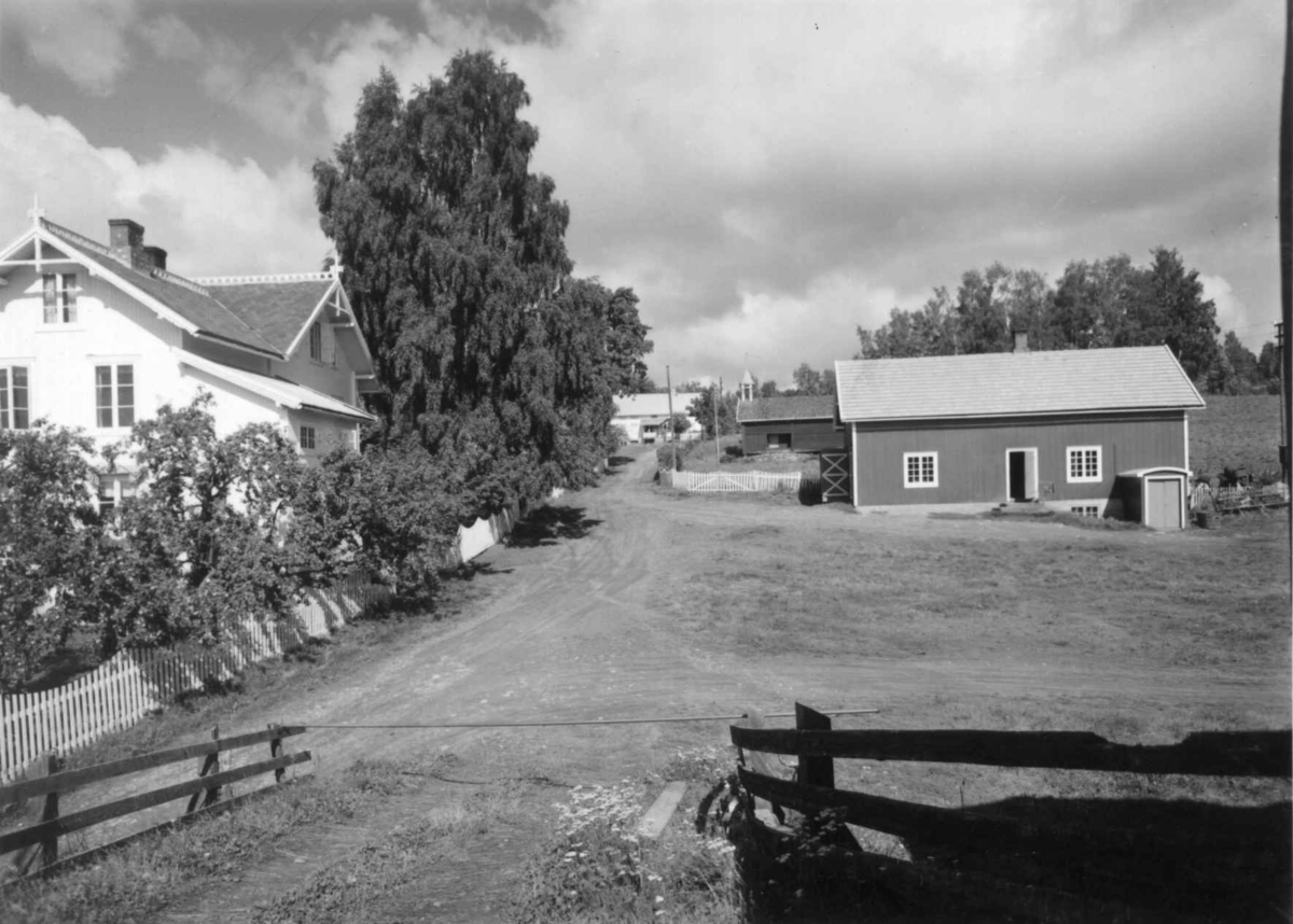 Helgeby, Nes, Ringsaker, Hedmark. Storgårdsundersøkelser ved dr. E. Engelstad 1957. Oppkjørsel.