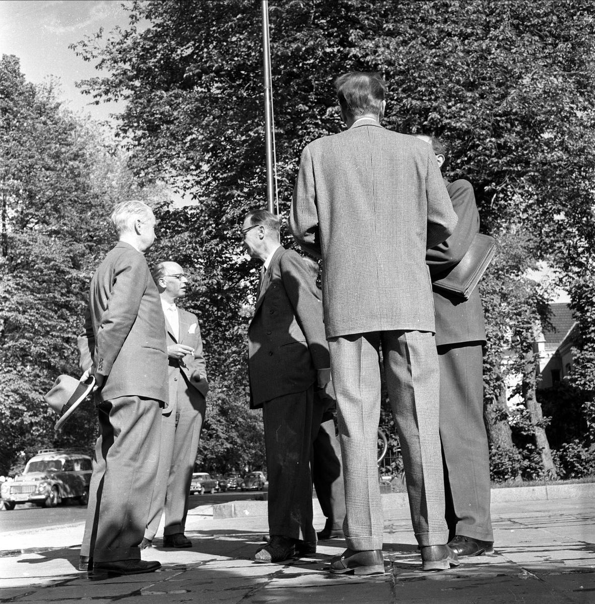 Juryen til utsmykkingen av Stortinget. Oslo  juni 1959.