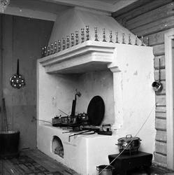 Berg-Kragerø museum, Kragerø, Telemark, 27.07.1961. Ildsted,