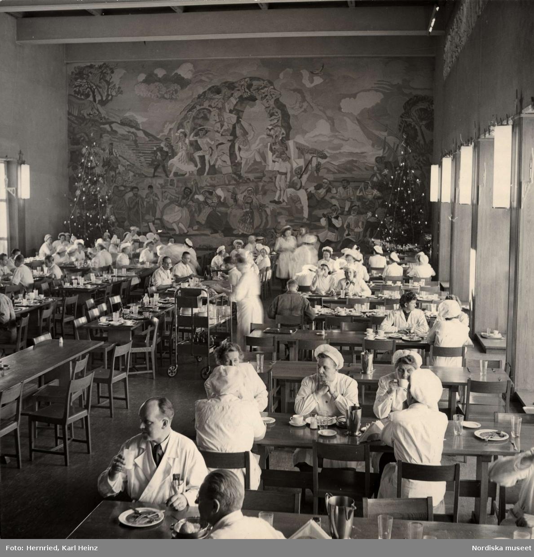 Marabou chokladfabrik, Sundbyberg. Livsmedelsindustri. Personalmatsal med stor fondmålning
