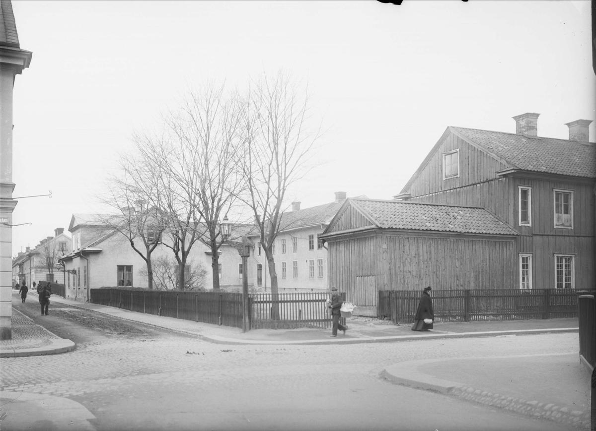 S:t Olofsgatan - Kungsgatan, Dragarbrunn, Uppsala 1901 - 1902