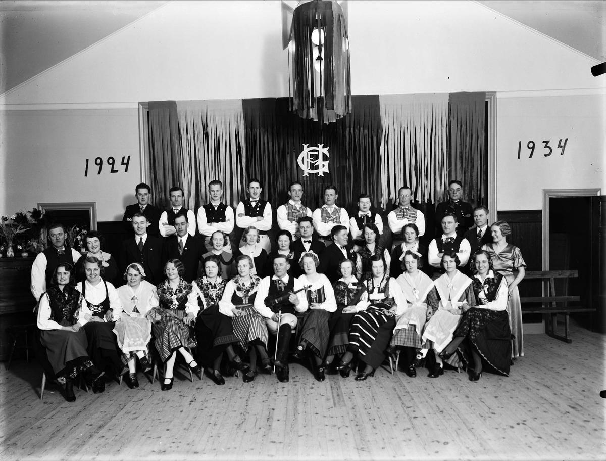 Föreningen Heimdals danslag firar 10-årsjubileum, Uppsala 1934