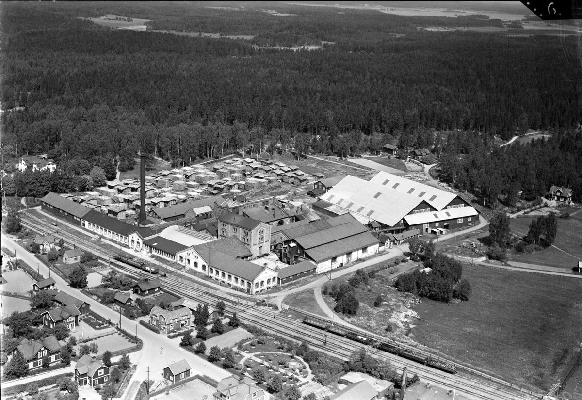 Flygfoto över Morgongåva, Vittinge socken, Uppland 1936