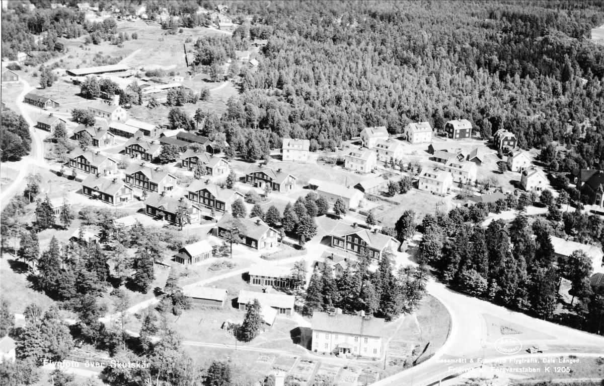 Flygfoto över Skutskär, Älvkarleby socken, Uppland 1947