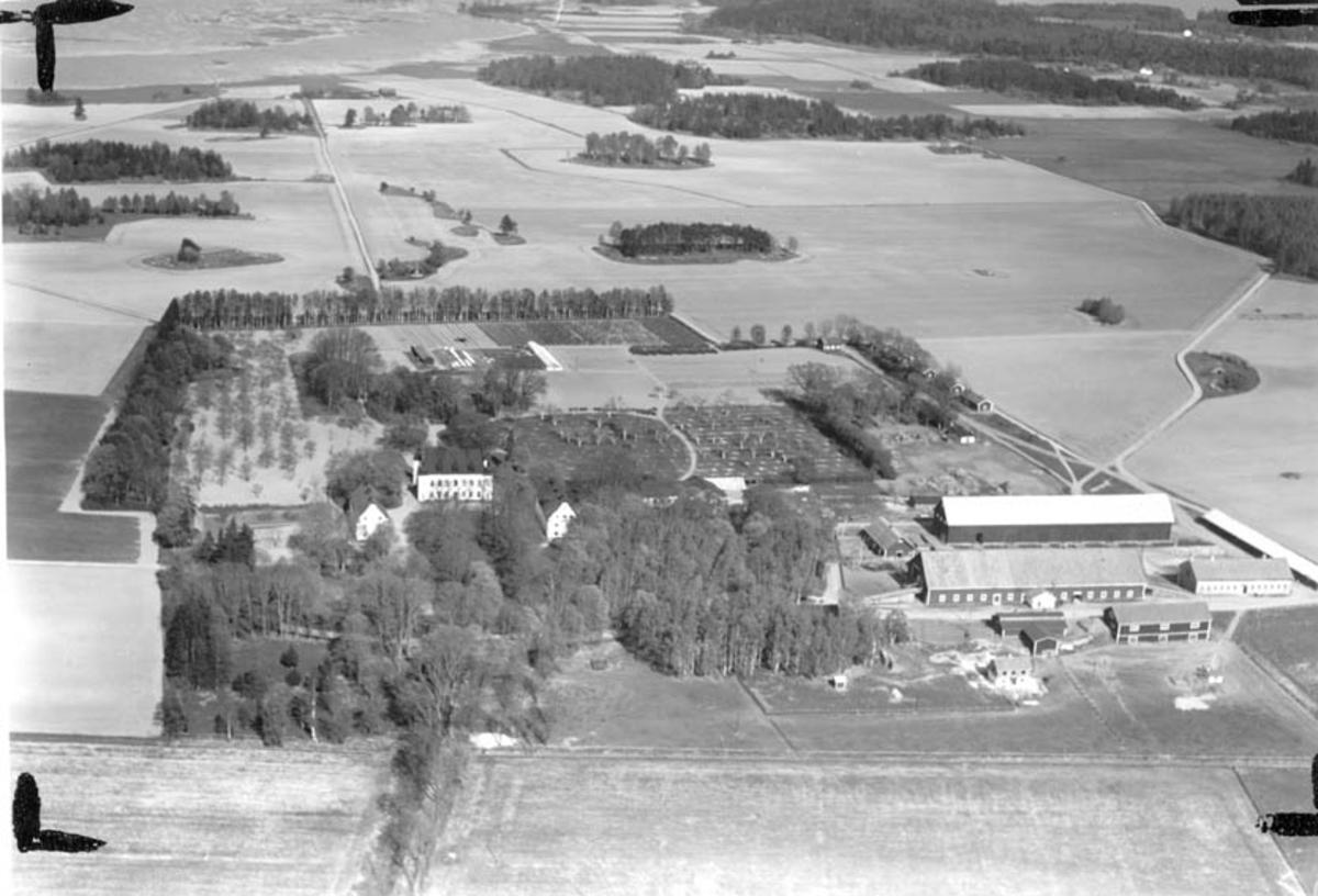Flygfoto över Ekholmens slott, Veckholms socken, Uppland 1936