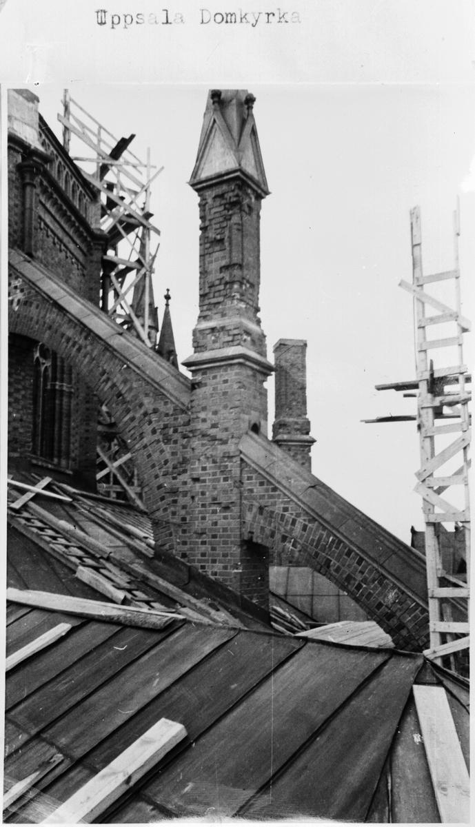 Reprofotografi - Uppsala domkyrka under restaurering, Uppsala