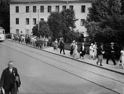 """Massainvasion av skolfolk i Upsala. 900 deltagare i nordisk"