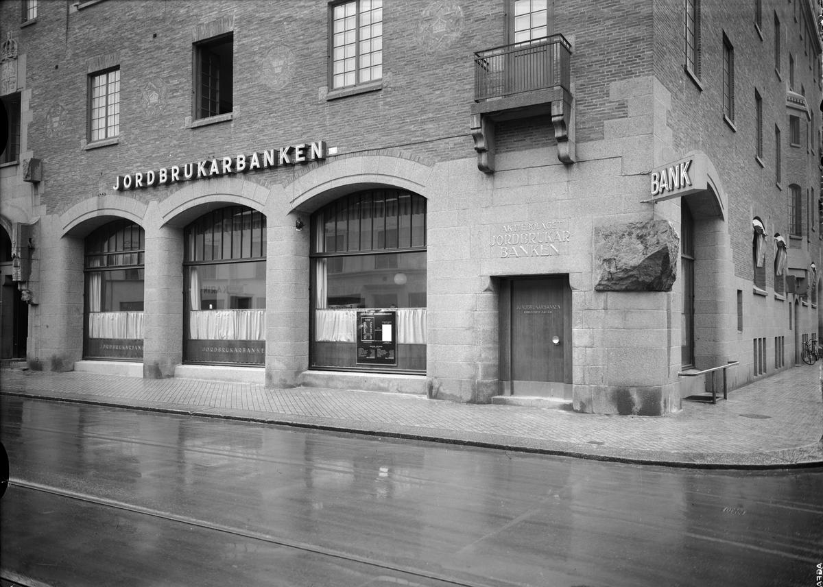 AB Jordbrukarbanken, Kungsängsgatan - Bangårdsgatan, Uppsala 1939