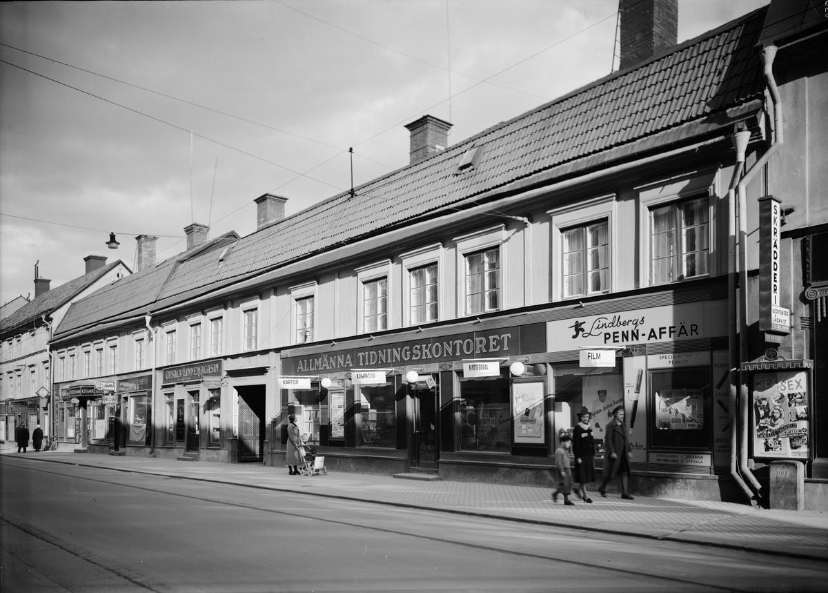 Drottninggatan, kvarteret Kaniken, Uppsala 1939