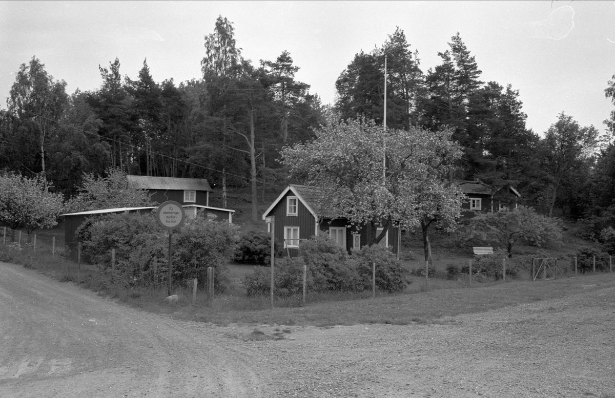 Vy från väster över Östa 7:1, Ärentuna socken, Uppland 1977