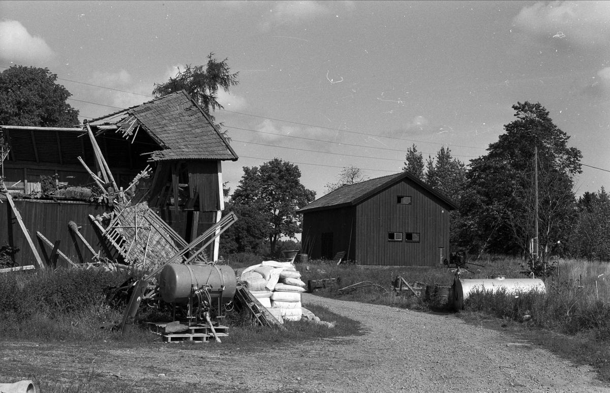 Ladugård, lada, garage och magasin, Karby 2:1, Rasbo socken, Uppland 1982