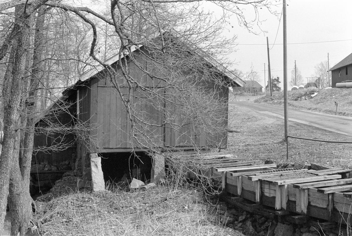 Såghus, Focksta kvarn, Hagby-Focksta 1:5, Focksta, Hagby socken, Uppland 1986