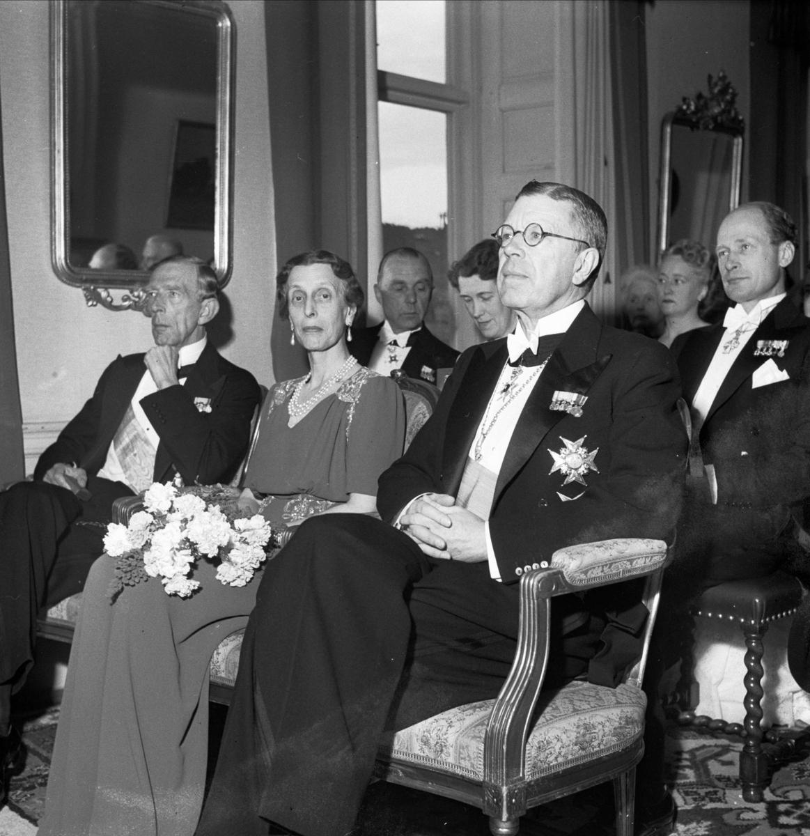 Karl Johansförbundets möte, Uppsala 1948. Kronprinsparet Gustav Adolf och Louise
